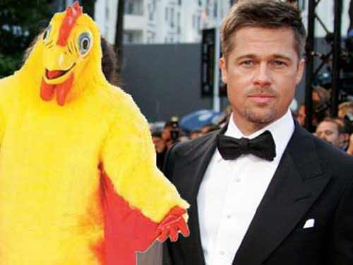 Brad Pitt worked as a chicken mascot for El Pollo Loco