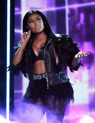 Nicki Minaj with dyed hair