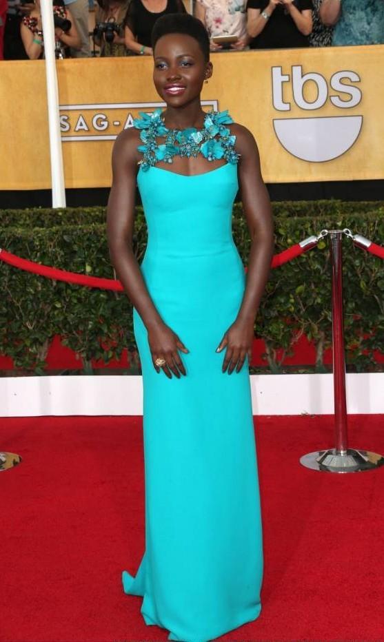 Long Blue Dress from Lupita Nyong o