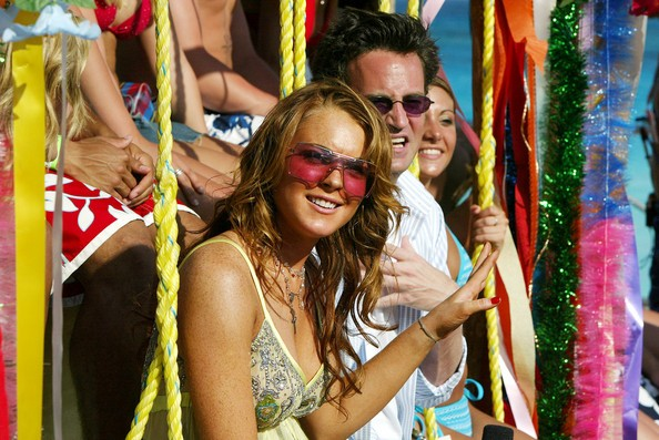 Matthew Perry and Lindsay Lohan