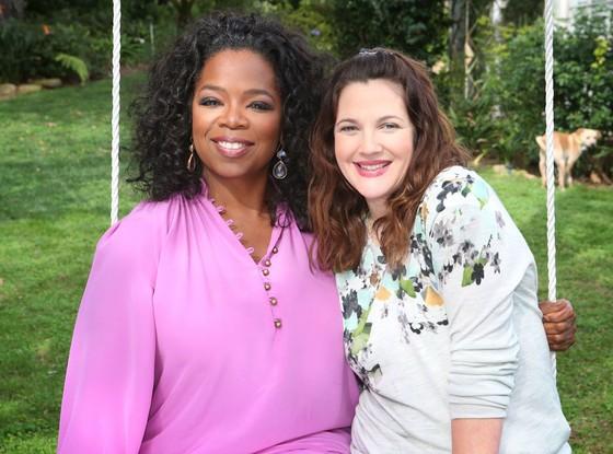 Oprah Winfrey and Drew Barrymore