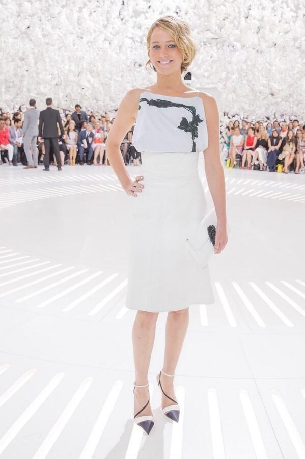 White Dress, Black Leather Jacket